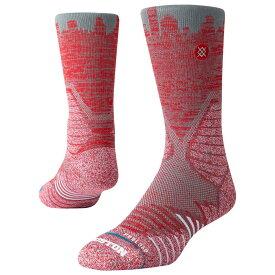 スタンス Stance メンズ バスケットボール ソックス【gameday skyline pro crew socks】Grey/Red Houston