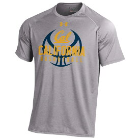 アンダーアーマー Under Armour メンズ Tシャツ トップス【college tech t-shirt】NCAA Cal Golden Bears True Grey Heather Basketball