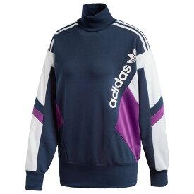アディダス adidas Originals レディース トップス 【90's block crew】Collegiate Navy/Tribe Purple/White