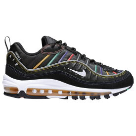 ナイキ Nike レディース ランニング・ウォーキング シューズ・靴【Air Max 98】Black/Flash Crimson/Kinetic Green/Psychic Purple Premium / Game Changer
