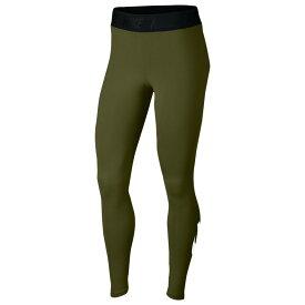ナイキ Nike レディース インナー・下着 スパッツ・レギンス【High-Waisted Futura Logo Leggings】Olive Canvas/White