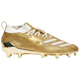 アディダス adidas メンズ アメリカンフットボール シューズ・靴【adiZero 8.0】Gold Met/White