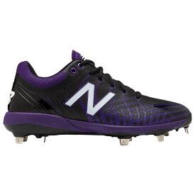 ニューバランス New Balance メンズ 野球 シューズ・靴【4040v5 Metal Low】Black/Purple