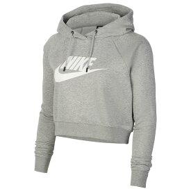 ナイキ Nike レディース パーカー トップス【Essential Crop Hoodie】Dark Grey Heather/White