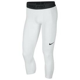 ナイキ Nike メンズ バスケットボール タイツ・スパッツ ボトムス・パンツ【3/4 Basketball Tights】White/Black