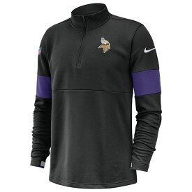 ナイキ Nike メンズ トップス ハーフジップ【NFL Therma 1/2 Zip Pullover Jacket】Black