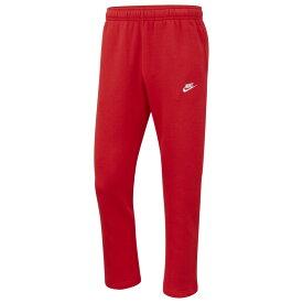 ナイキ Nike メンズ フリース トップス【Club Open Hem Pants】University Red/White