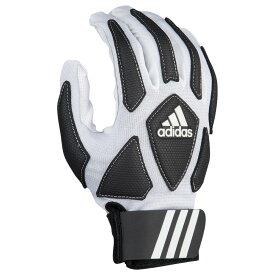 アディダス adidas メンズ アメリカンフットボール フルフィンガー グローブ【Full Finger Scorch Destroyer 2 Lineman】White/Black