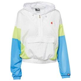 チャンピオン Champion レディース フィットネス・トレーニング ジャケット アウター【Nylon Jacket】White/Blue/Green