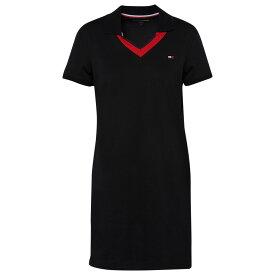 トミー ヒルフィガー Tommy Hilfiger レディース ワンピース Vネック ポロ ワンピース・ドレス【V-Neck Short Sleeve Polo Dress】Black