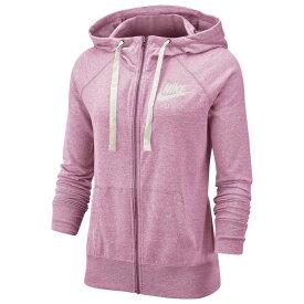 ナイキ Nike レディース パーカー トップス【Gym Vintage Full-Zip Hoodie】Pink Rise/Sail