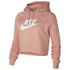 ナイキ Nike レディース パーカー トップス【Essential Crop Hoodie】Pink Quartz/White