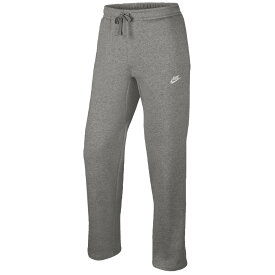 ナイキ Nike メンズ フリース トップス【Club Open Hem Fleece Pants】Dark Grey Heather/White