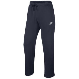 ナイキ Nike メンズ フリース トップス【Club Open Hem Fleece Pants】Obsidian/White