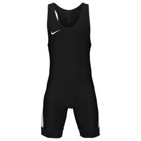 ナイキ Nike メンズ レスリング シングレット トップス【Grappler Elite Wrestling Singlet】Black/White