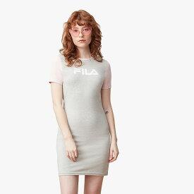 フィラ Fila レディース ワンピース ワンピース・ドレス【Roslyn Dress】Light Grey Marl/Pink Chalk/White