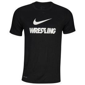 ナイキ Nike メンズ レスリング ドライフィット Tシャツ トップス【Dri-Fit Training T-Shirt】Black/White