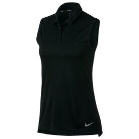 ナイキ Nike レディース ゴルフ ドライフィット ノースリーブ ポロシャツ トップス【Dri-FIT Dry Sleeveless Golf Polo】Black
