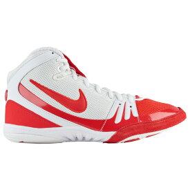 ナイキ Nike メンズ レスリング シューズ・靴【Freek】White/University Red