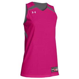 アンダーアーマー Under Armour レディース バスケットボール トップス【Team Clutch Reversible Jersey】Team Graphite/Tropic Pink