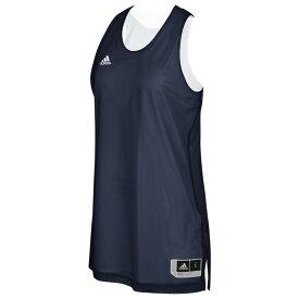 アディダス adidas レディース バスケットボール トップス【Team Crazy Explosive Reversbile Jersey】Collegiate Navy/White