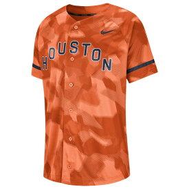 ナイキ Nike メンズ トップス 【MLB Full Button Jersey】MLB Houston Astros Orange