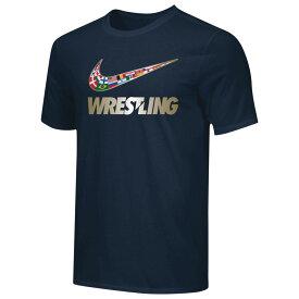 ナイキ Nike メンズ レスリング Tシャツ トップス【USA Wrestling Team Legend Training T-Shirt】Navy