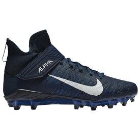 ナイキ Nike メンズ アメリカンフットボール シューズ・靴【Alpha Menace Pro 2 MID】College Navy/White/Dark Royal Blue