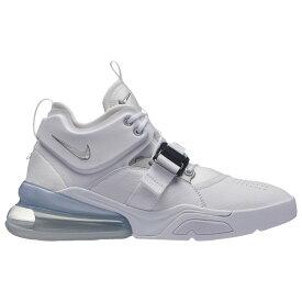 ナイキ Nike メンズ バスケットボール エアフォース シューズ・靴【Air Force 270】White/Metallic Silver