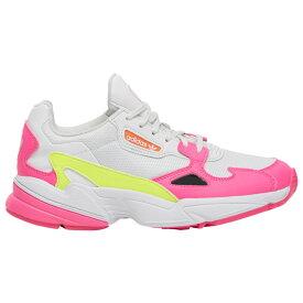 アディダス adidas Originals レディース ランニング・ウォーキング シューズ・靴【Falcon】Shock Pink/Solar Yellow/Raw White