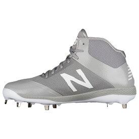 ニューバランス New Balance メンズ 野球 シューズ・靴【4040v4 Metal Mid】Grey/Grey