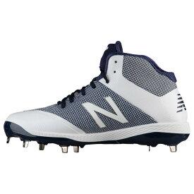 ニューバランス New Balance メンズ 野球 シューズ・靴【4040v4 Metal Mid】Navy/White