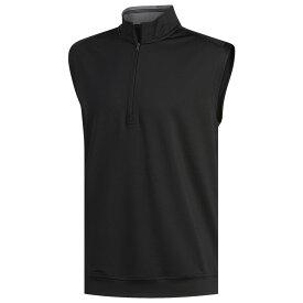 アディダス adidas メンズ ゴルフ ノースリーブ トップス【Classic Club 1/4 Zip Golf Vest】Black