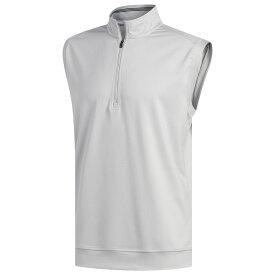 アディダス adidas メンズ ゴルフ ノースリーブ トップス【Classic Club 1/4 Zip Golf Vest】Grey Two