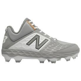 ニューバランス New Balance メンズ 野球 シューズ・靴【3000v4 TPU Mid】Grey/White