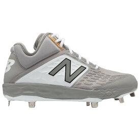 ニューバランス New Balance メンズ 野球 シューズ・靴【3000v4 Metal Mid】Grey/White