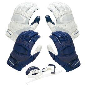 カッターズ Cutters ユニセックス アメリカンフットボール 【Rev Pro 3.0 Solid Flip Combo Pack】Navy/White Includes Sets of Receiver Gloves and Mouthguard