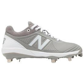 ニューバランス New Balance レディース 野球 シューズ・靴【FuseV2 Metal Low】Grey/White