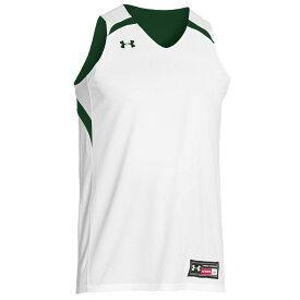 アンダーアーマー Under Armour メンズ バスケットボール トップス【Team Clutch Reversible Jersey】Dark Green/White