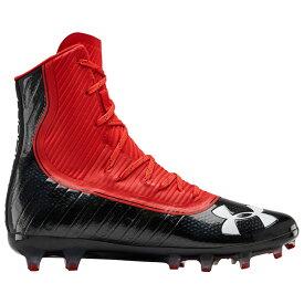 アンダーアーマー Under Armour メンズ アメリカンフットボール シューズ・靴【Highlight MC】Black/Red
