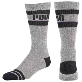 プーマ PUMA メンズ バスケットボール 【Court One Knit Crew Socks】Grey/Purple