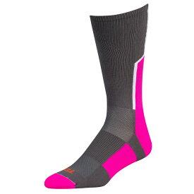 ツウィンシティ Twin City メンズ アメリカンフットボール 【Player ID Custom Number Crew Socks】Graphite/Hot Pink/White #/Single Sock
