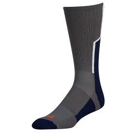 ツウィンシティ Twin City メンズ アメリカンフットボール 【Player ID Custom Number Crew Socks】Graphite/Navy/White #/Single Sock