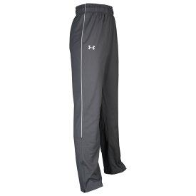 アンダーアーマー Under Armour メンズ フィットネス・トレーニング ボトムス・パンツ【Team Rival Knit Warm-Up Pants】Graphite/White