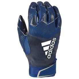 アディダス adidas メンズ アメリカンフットボール レシーバーグローブ グローブ【adiZero 5-Star 8.0 Receiver Glove】Navy/Metallic Silver