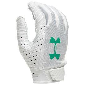 アンダーアーマー Under Armour メンズ アメリカンフットボール レシーバーグローブ グローブ【Spotlight LE NFL Receiver Glove】White/Jade