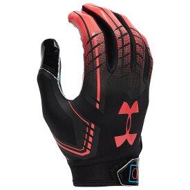アンダーアーマー Under Armour メンズ アメリカンフットボール レシーバーグローブ グローブ【F6 Receiver Gloves】Black/Tropic Pink Always Open