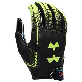 アンダーアーマー Under Armour メンズ アメリカンフットボール レシーバーグローブ グローブ【F6 Receiver Gloves】Black/Hi-Vis Yellow Always Open