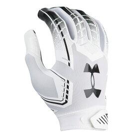 アンダーアーマー Under Armour メンズ アメリカンフットボール グローブ【F6 Football Gloves】White/Black