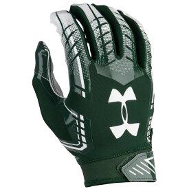 アンダーアーマー Under Armour メンズ アメリカンフットボール グローブ【F6 Football Gloves】Forest Green/White